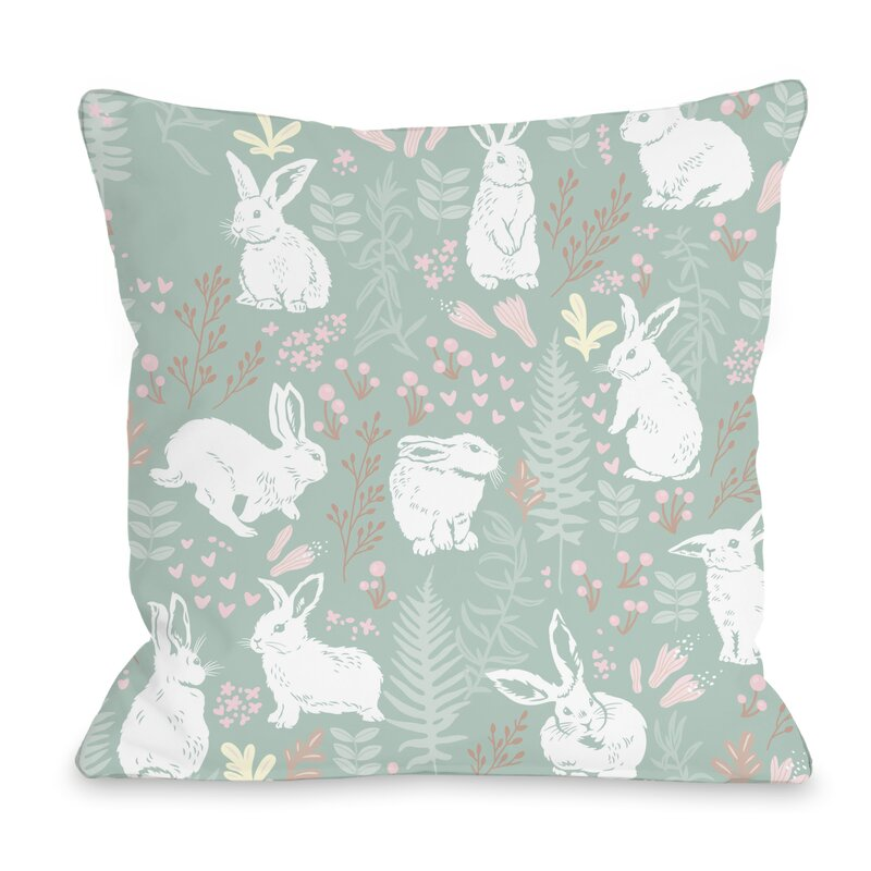 One Bella Casa Easter Bunny Throw Pillow Reviews Wayfair