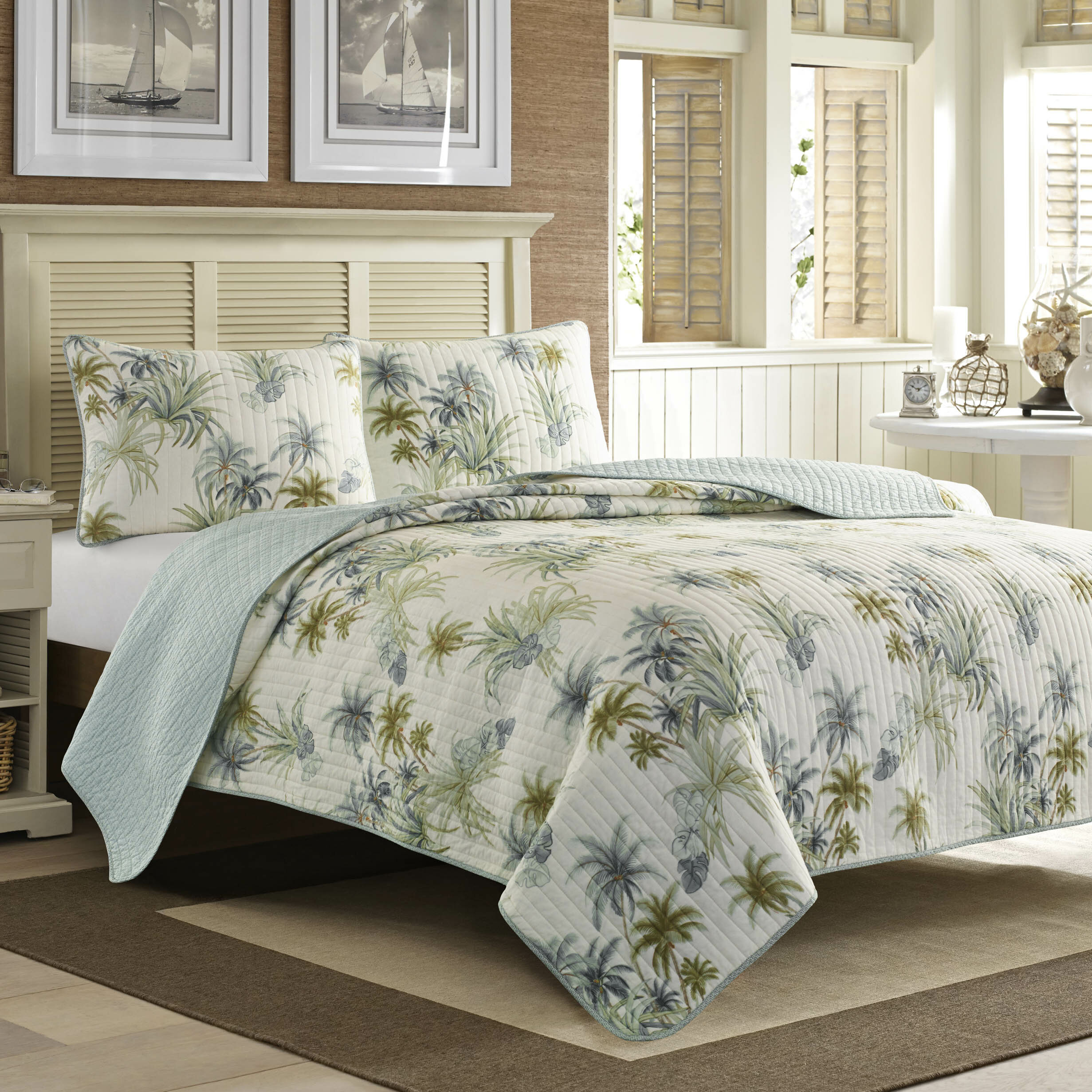 Tommy bahama bedding serenity palms quilt collection tommy for Bahama towel chaise cover