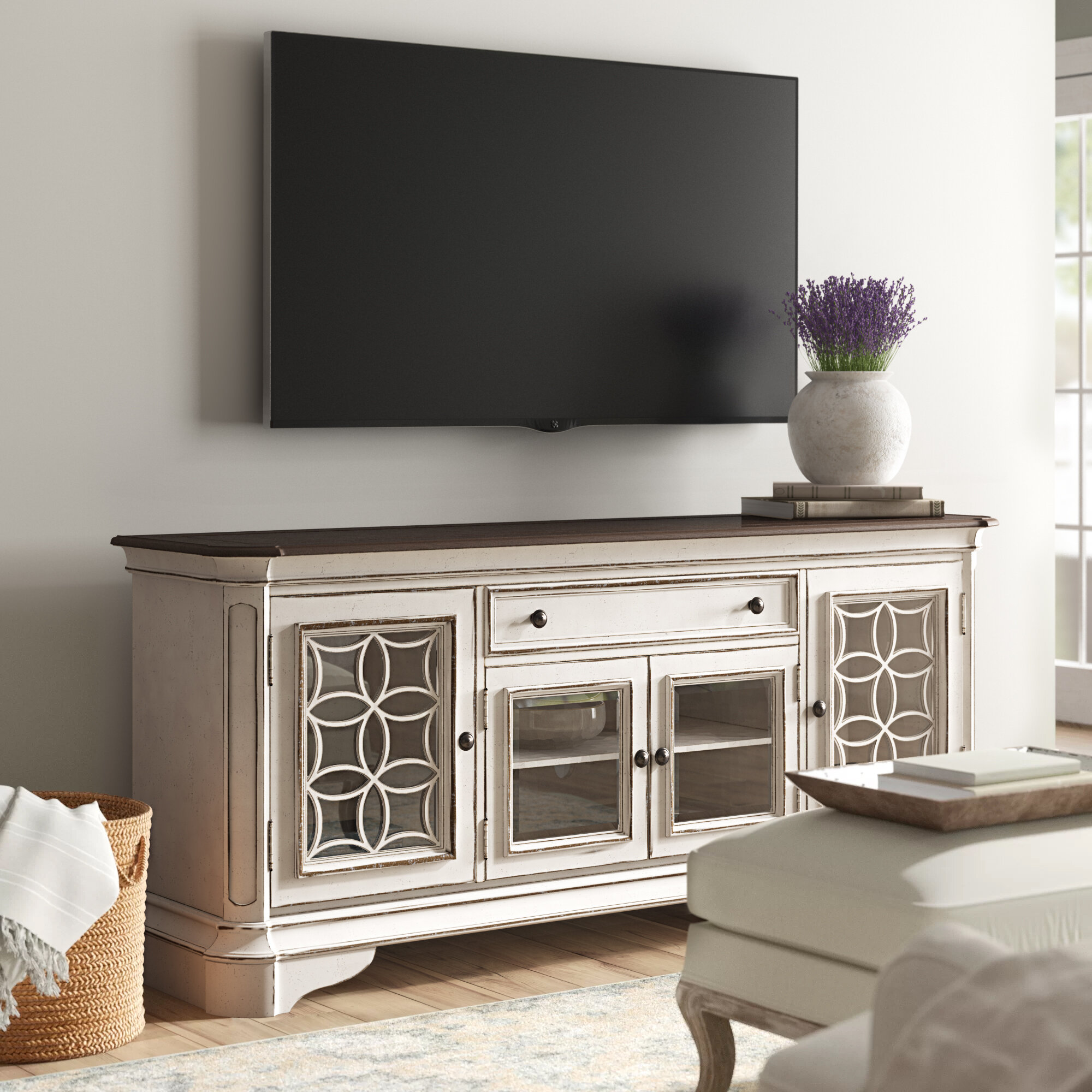 "One Allium Way Tavant TV Stand for TVs up to 85"" & Reviews 
