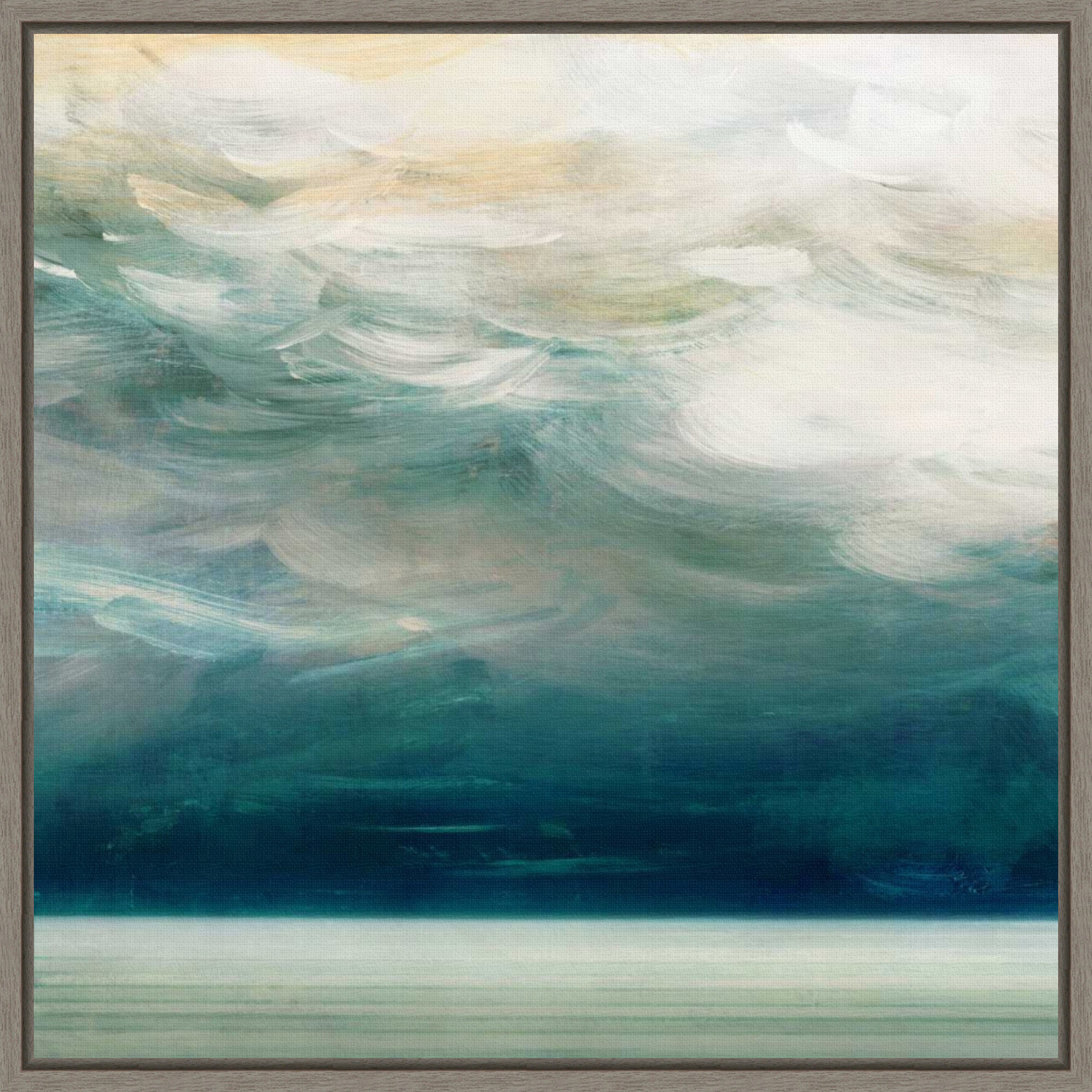Rosecliff Heights Ocean Breeze I By Aimee Wilson Floater Frame Painting Print On Canvas Wayfair