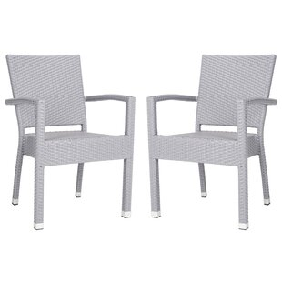 Bay Isle Home Key Vista Stacking Patio Dining Chair (Set of 2)