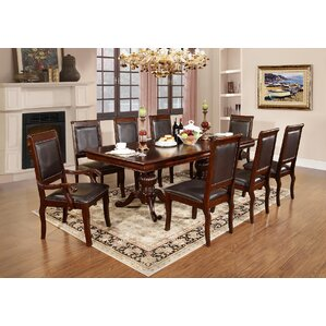 9 Piece Dining Set by Best Quality Furniture