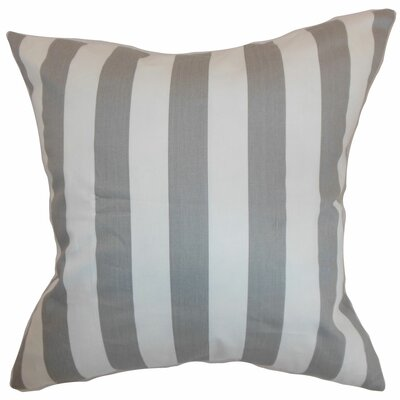 Birch Lane™ Heritage Knotts Indoor/Outdoor 100% Cotton Throw Pillow Color: Storm Twill, Size: 18 H x 18  W