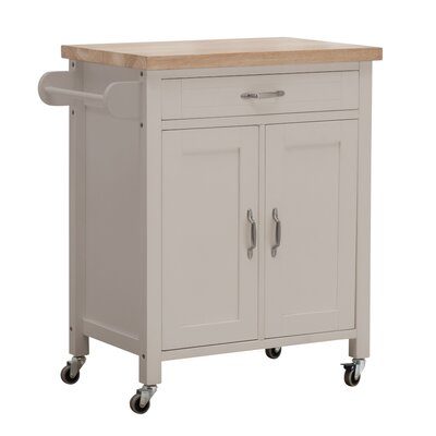 August Grove Philomene Kitchen Cart Base Finish: Gray