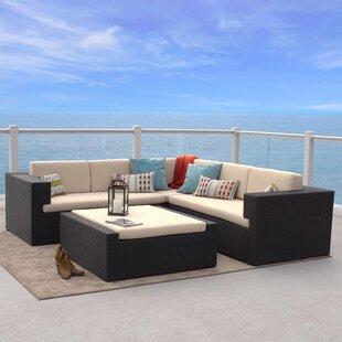 Home Loft Concepts Ventura 4 Piece Sunbrella Sectional Set with Cushions