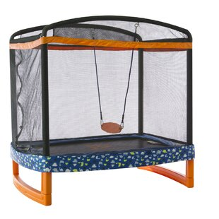 Jump Power Trampoline 6' Rectangular with Safety Enclosure