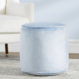 Reuven Plush Pouf by Willa..