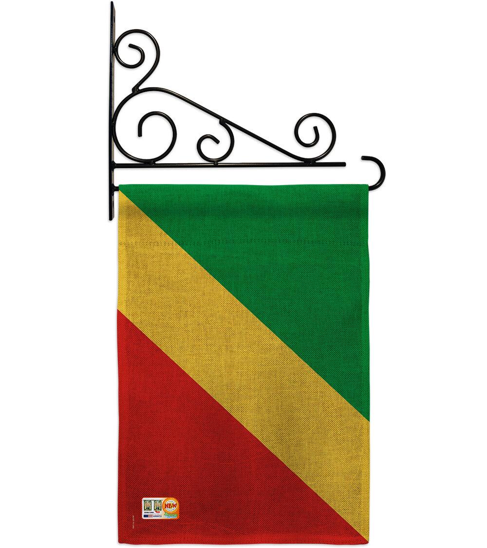 Breeze Decor Congo 2 Sided Burlap 19 X 13 In Garden Flag Wayfair