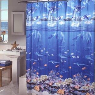 Ryann Sea Life Peva Shower Curtain ByZoomie Kids