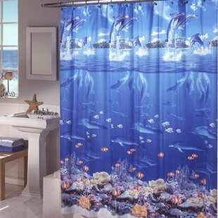 Ryann Sea Life Peva Single Shower Curtain
