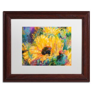 U0027Blue Sunflowersu0027 Print On Canvas