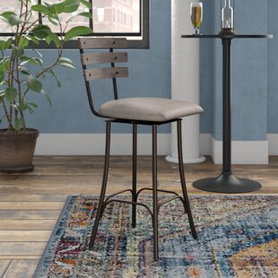 Rachelle 26.75 Industrial Swivel Bar Stool Trent Austin Design