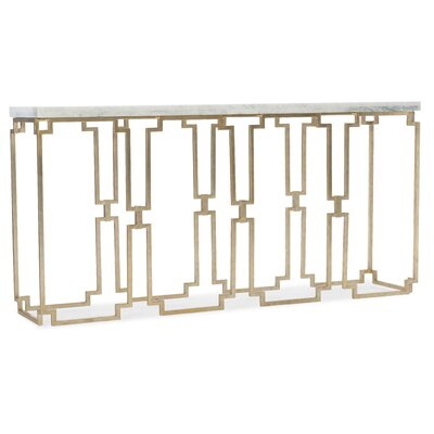 Emmeline Console Table Hooker Furniture Table Top Color: White, Table Base Color: Gold