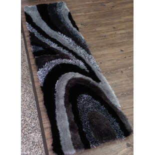 Find a Hand-Tufted Gray/Black Area Rug By Rug Factory Plus