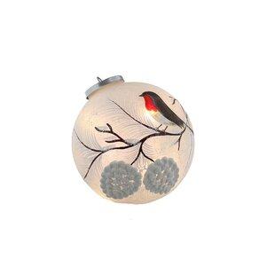 12 Warm White Robin Crackle Ball Lamp By The Seasonal Aisle