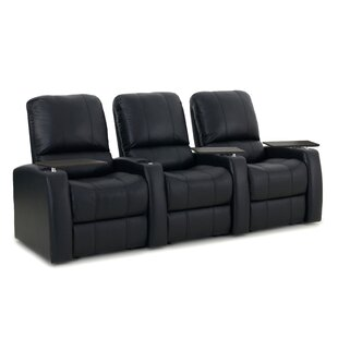 Latitude Run Leather Home Theater Seating (Row of 3)