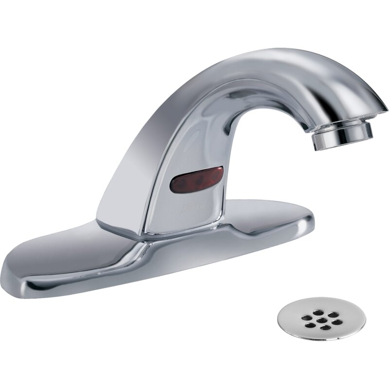 Delta Electronic Battery Lavatory Faucet with Grid Strainer | Wayfair