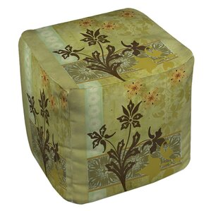 Collage Blossoms Ottoman by Manual Woodworkers & Weavers