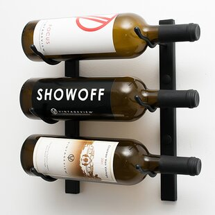 3 Bottle Wall Mounted Wine Rack By Symple Stuff