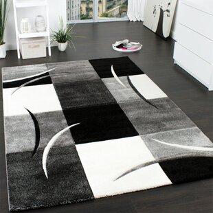 Christa Black/White/Grey Rug by Longweave