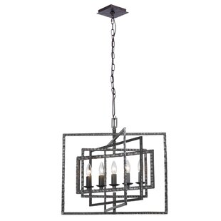 Latitude Run Kilmarnock 5-Light Square/Rectangle Chandelier