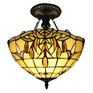 Tiffany 2-Light Semi-Flush Mount by Fine Art Lighting