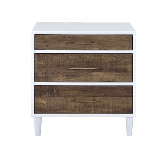 Langley Street Colby 3 Drawer Nightstand