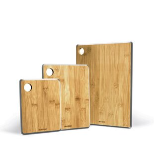 3 Piece Bamboo Cutting Board Set ByArt and Cook