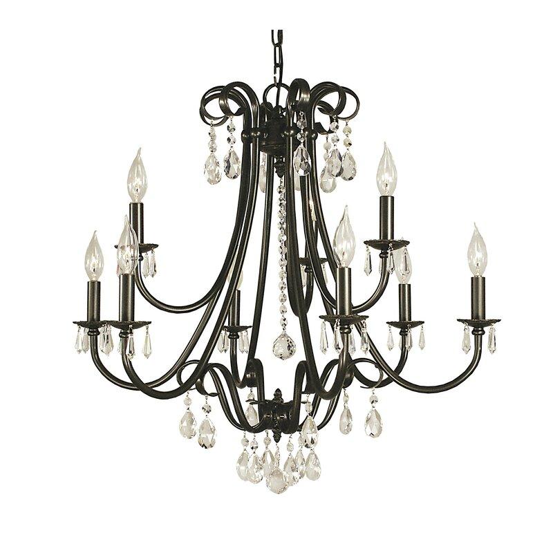 Astoria Grand Liebestraum 9 Light Candle Style Classic Traditional Chandelier Wayfair
