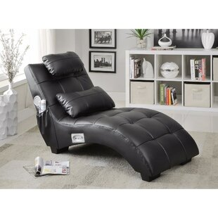 Maresova Leather Chaise Lounge by Latitude Run