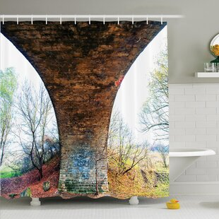 Rustic Decor Pillar of Stone Shower Curtain Set