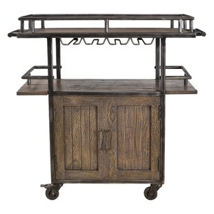 Loon Peak Hessler 2 Door Wheel Wine Bar Cabinet