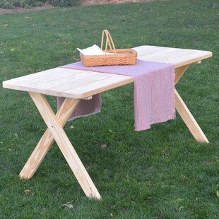 Loon Peak Stuyvesant Pine Cross-leg Picnic Table