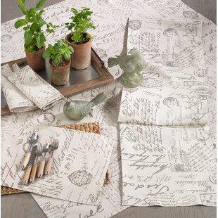 Noren Old Fashioned Vintage Script Print Design Tablecloth