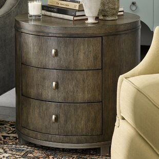 Brentwood Byron Drum End Table with Storage