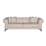 Pamrapo Full 94 Tufted Back Convertible Sofa by House of Hampton®