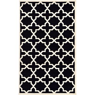 Price comparison Moore Black Area Rug By Charlton Home