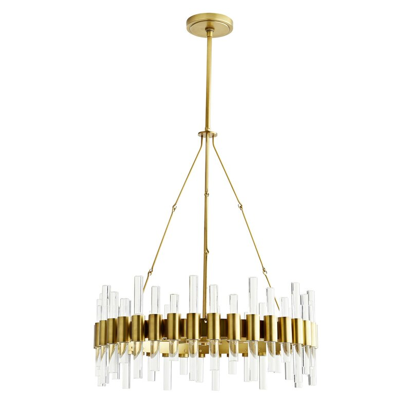 ARTERIORS Home Haskell 8-Light Wagon Wheel Chandelier