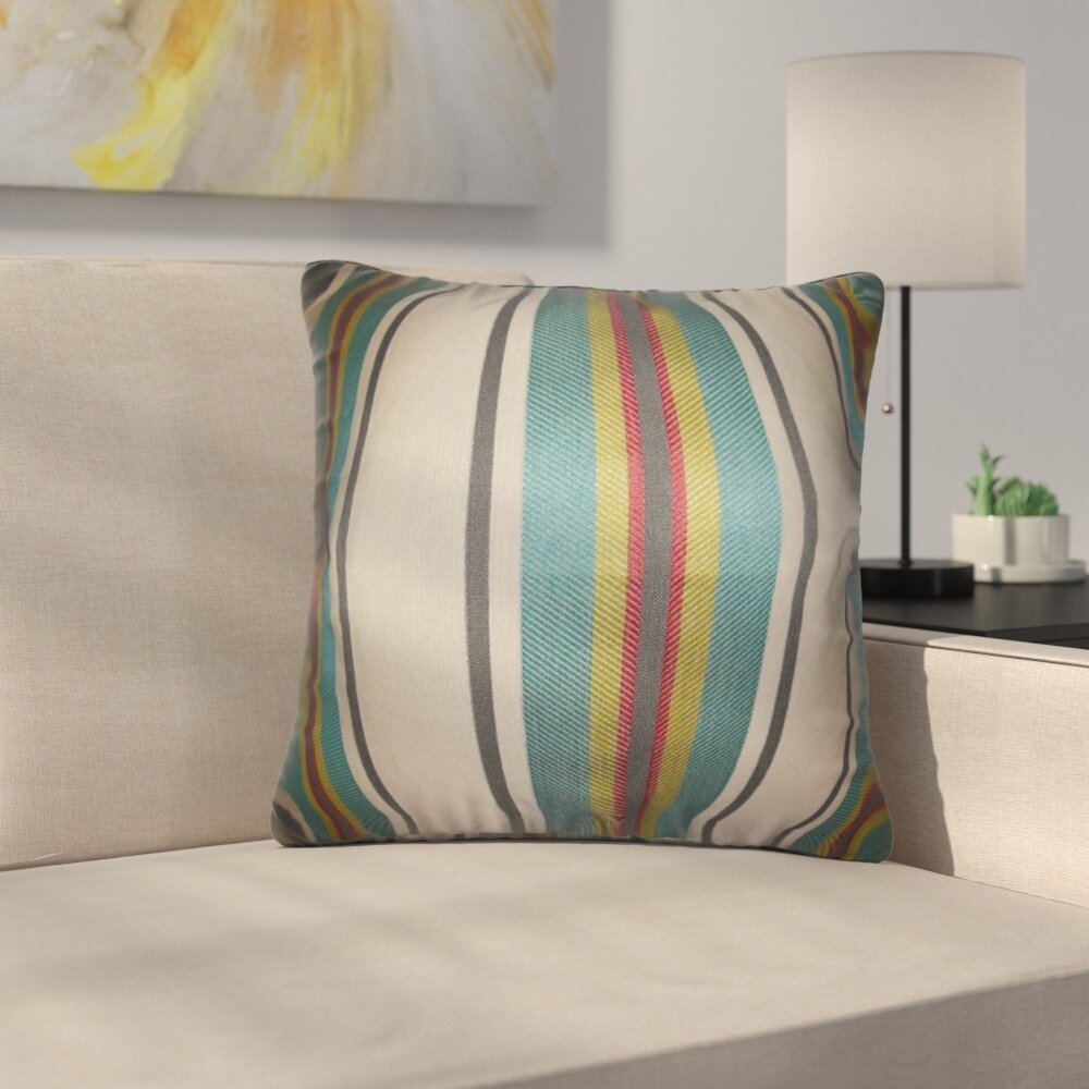 Latitude Run Mazama Stripe Silk Throw Pillow Wayfair