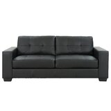 Kaye 82 Wide Faux Leather Square Arm Sofa by Latitude Run®