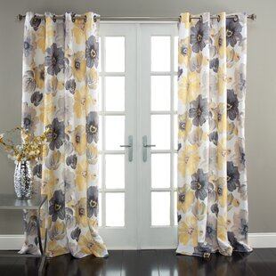 Gray Patterned Curtains Wayfair