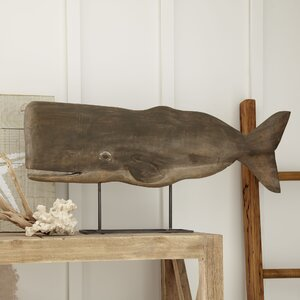 Wood Whale Decor