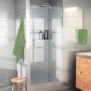 Best Reviews 24 x 78 Hinged Frameless Shower Door By Glass Warehouse