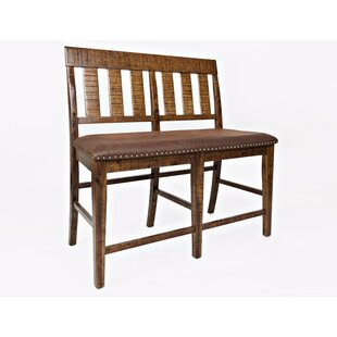 Redbrook Slatback Counter Wood Bench by Loon Peak