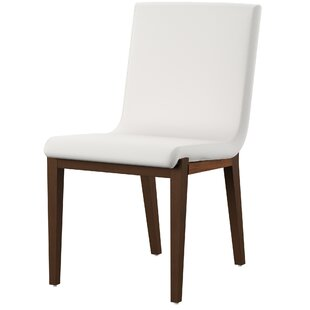Morganti White Leatherette Upholstered Side Chair (Set of 2) by Mercury Row