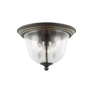 Trent Austin Design Panorama Point 3-Light Flush Mount