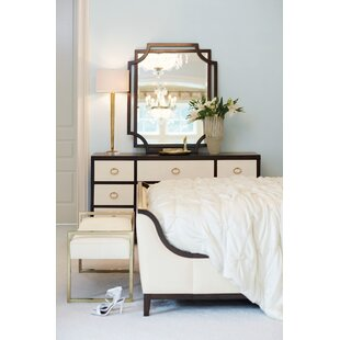 Jet Set 9 Drawer Dresser with Mirror