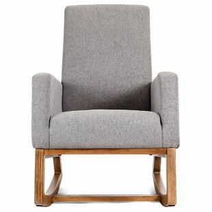 Raya Mid Century Upholstered Rocking Chair