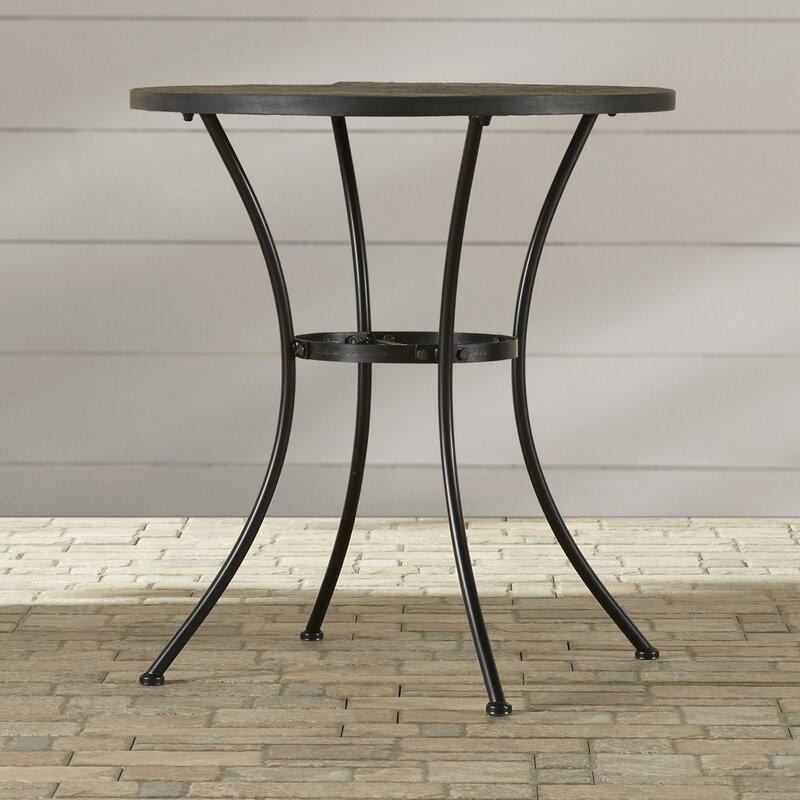 alcott hill barker ridge round bistro table with slate top & reviews