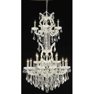 House of Hampton Regina 25-Light Candle Style Chandelier